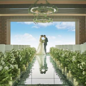 【憧れの花嫁体験♪】天空チャペルで感動の挙式体験&コース試食