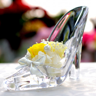 ガラスの靴リングピロープレゼント