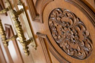 祝福を表すロゼッタがお出迎え|北野異人館 旧レイン邸の写真(638632)