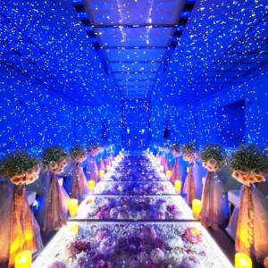 満天の星空に包まれたようなロマンティックなセレモニーが叶う|ラグナスイート NAGOYA ホテル&ウェディングの写真(2465088)