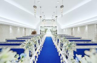 ブルーのバージンロード☆ アルカンシエル横浜 luxemariage アルカンシエルグループの写真(16515647)