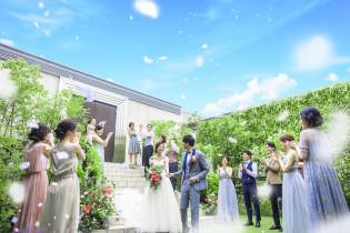 ガーデンにてフラワーシャワー! アルカンシエル横浜 luxemariage アルカンシエルグループの写真(16515669)