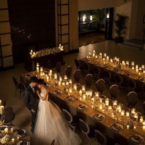 スタイリッシュでかっこいい結婚式には、 キャンドルウエディングがオススメ!! 今までの結婚式とは違った演出も叶う♪|アルカンシエル横浜 luxemariage アルカンシエルグループの写真(5911087)