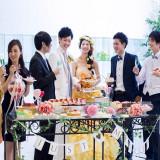 大人気のデザートブッフェ☆ ゲストと距離が近くなるひとときです。