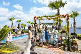 ガーデンでのウェルカムパーティ コットンハーバークラブ(横浜)の写真(5024180)