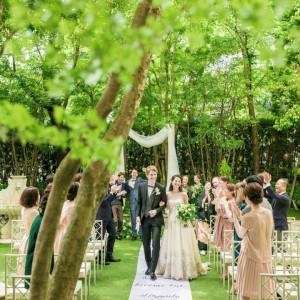 【当館人気No1】特製フレンチ×緑の貸切ガーデンウエディング