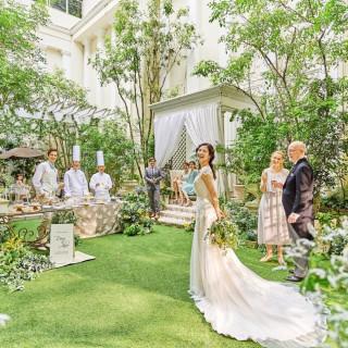 【当館人気No1】ドレス特典付★フレンチ×緑の貸切ガーデン