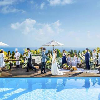 空・海・緑を満喫◆プール付き貸切ガーデン体験×牛フィレ試食♪
