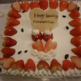 ケーキ一例です。大好きなキャラクターを載せたオリジナルケーキ。
