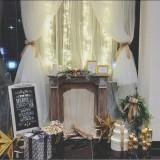 クリスマス装飾☆暖炉をイメージしたシャンパンゴールド溢れる空間♪