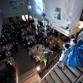 【季節のスイーツ付】体験!ウェルカムパーティ&憧れの階段入場