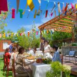 ガーデンでの鉄板料理ビュッフェはゲスト人気の高い演出!開放的な空間で楽しくおもてなしが叶う