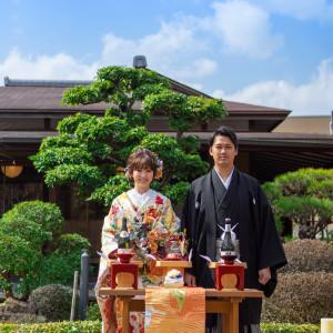 【伝統×トレンド】日本庭園での和婚式×QUOカード¥6000付き