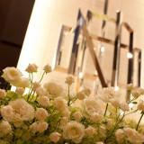 テーブルコーディネートや装飾花など、おふたりのご希望を伝えて。