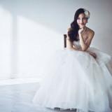 純白に輝くウェディングドレス♡