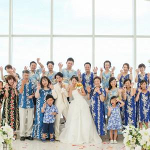 み~んなの思い出に残る集合写真♪|シー シェル ブルー/サザンビーチホテル&リゾート●小さな結婚式の写真(1302304)