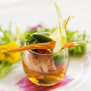 思わず写真を撮りたくなるような彩り鮮やかなお料理でゲストもにっこり♪|アルカンシエルluxemariage名古屋:アルカンシエルグループの写真(1441668)