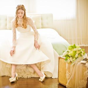 おめでた花嫁も安心!個室型のメイクルーム完備