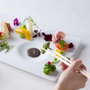 和テイストフレンチ。お箸で食べられるフルコース