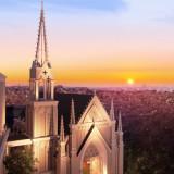 目を奪われる独立型の大聖堂は、みなとみらいで唯一。特別な一日にふさわしいワンシーンが記憶に残る。