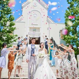 【3万円コース試食付】緑溢れるNEWチャペル×ドレス体験