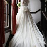 シンプルなウェディングドレス♪