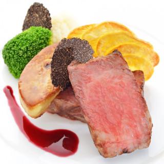 【無料試食】黒毛和牛×フォアグラ料理と特製デザートコースのスペシャリテを2名様分!
