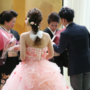 ご両親に花束贈呈|ホテル金沢の写真(1696452)