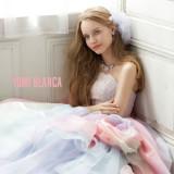 桂由美のカラードレス。最近はやりのレインボー。※公式ホームページにドレス多数掲載中。