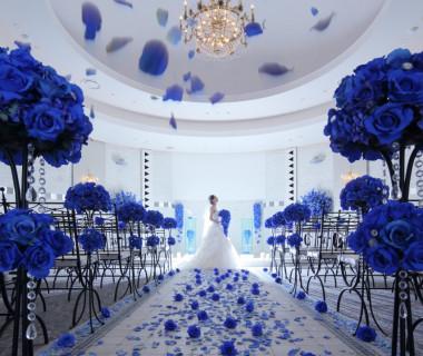 【奇跡】という花言葉の青薔薇のチャペル