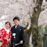 桜の季節の前撮り☆