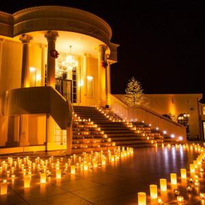 夜のチャペルにキャンドルを...♡|ROSA FELICEの写真(392152)