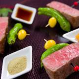 日本三大和牛も堪能できるコース料理。