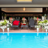 【アジアンリゾート】Villa 1st 全天候型のガーデン付披露宴会場!最大180名様の着席可能。