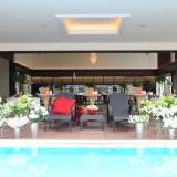 【アジアン・リゾート】Villa 1stのテラスは開放的でリゾート感をしっかりと演出してくれる。ご来館いただいた際にはこんな雰囲気もあったんだと驚きの声もしばしば。
