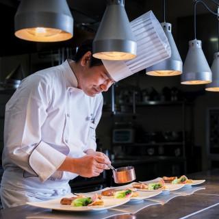 【席数限定】ドレス試着&旬の野菜と魚介×黒毛和牛の創作料理試食フェア