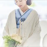 白無垢の中に着る掛下、お好きな色にしたり、思い出の振袖にしても素敵