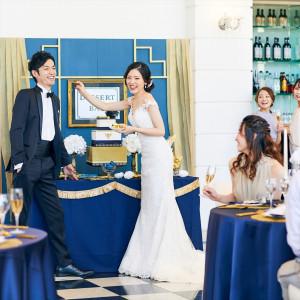 デザートビュッフェの演出はゲストにも人気の一つ!|ヴィラ・グランディス ウェディングリゾート 福井の写真(10804933)