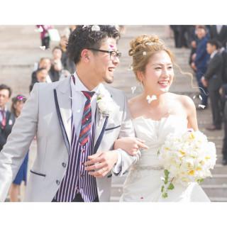 【Wパーク限定特典有♡】白い大階段からの絶景♡花嫁体感プレミアムフェア
