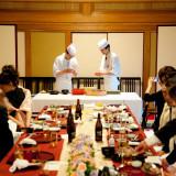 会食コースに含まれているにぎり寿司の実演は好評