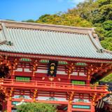 鶴岡八幡宮で日本人らしい和装での挙式。