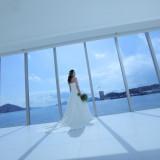 館内から見渡せる瀬戸内海の島々