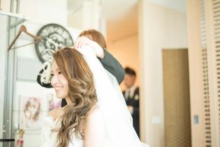 特別な1日のはじまり|8G Horie RiverTerrace Weddingの写真(1309925)