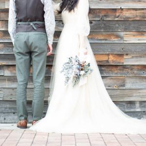 お写真映えするスポットでしっかりとワンシーンを収めて♪|8G Horie RiverTerrace Weddingの写真(7227646)