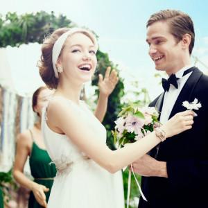 肩肘張らず、自然体。 形式や格式にとらわれなず、自分たちのこだわりのスタイルを ウェディングにアレンジ☆ 皆の前で改めて永遠の誓いを・・・!|8G Horie RiverTerrace Weddingの写真(904785)