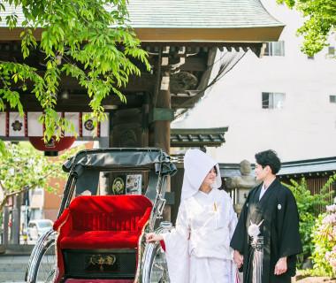 櫛田神社 人力車