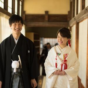 リラックスしてお式に向かいます 住吉神社 (博多)の写真(4439062)