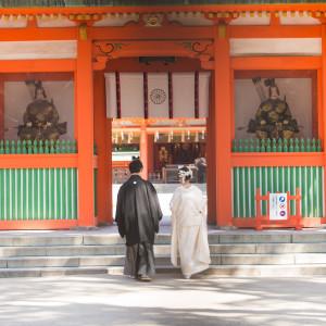 おふたりで神様にご挨拶に 住吉神社 (博多)の写真(4439058)