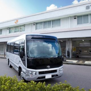 【ご来館で適用OK】県内往復送迎バスプレゼント/27名乗りで経由OKの安心アクセスサポート