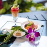 和・洋の絶妙な融合により創作されたフュージョン料理は幅広いゲストに大好評!